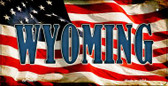 Wyoming US Flag Wholesale Novelty Bicycle Plate BP-3661