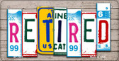 Retired Plate Art Wholesale Novelty Bicycle Plate BP-7847