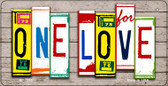 One Love Plate Art Wholesale Novelty Bicycle Plate BP-7913