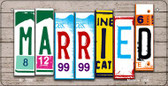 Married Plate Art Wholesale Novelty Bicycle Plate BP-7936