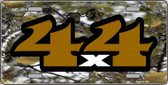 4x4 Camouflage Wholesale Metal Novelty License Plate