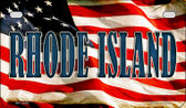 Rhode Island US Flag Wholesale Novelty Motorcycle Plate MP-3650