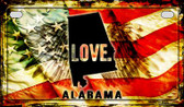 Alabama Love & Wings Wholesale Novelty Motorcycle Plate MP-8587