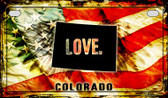 Colorado Love & Wings Wholesale Novelty Motorcycle Plate MP-8592