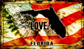 Florida Love & Wings Wholesale Novelty Motorcycle Plate MP-8595
