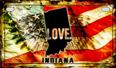 Indiana Love & Wings Wholesale Novelty Motorcycle Plate MP-8600