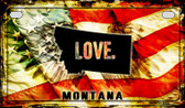 Montana Love & Wings Wholesale Novelty Motorcycle Plate MP-8612