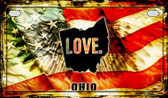 Ohio Love & Wings Wholesale Novelty Motorcycle Plate MP-8621