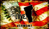 Vermont Love & Wings Wholesale Novelty Motorcycle Plate MP-8631