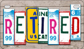 Retired Plate Art Wholesale Novelty Motorcycle Plate MP-7847