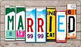 Married Plate Art Wholesale Novelty Motorcycle Plate MP-7936