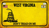 West Virginia Do Not Tread Wholesale Novelty Motorcycle Plate MP-8880