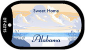 Alabama Blank Background Wholesale Dog Tag Necklace DT-2215