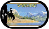 Wyoming Blank Background Wholesale Dog Tag Necklace DT-10511
