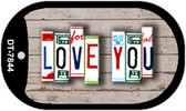 Love You Plate Art Wholesale Dog Tag Necklace DT-7844