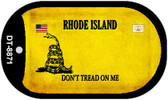 Rhode Island Do Not Tread Wholesale Dog Tag Necklace DT-8871