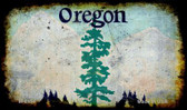 Oregon Rusty Blank Background Wholesale Aluminum Magnet M-8154