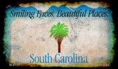 South Carolina Rusty Blank Background Wholesale Aluminum Magnet M-8157