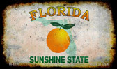 Florida Rusty Blank Background Wholesale Aluminum Magnet M-8197