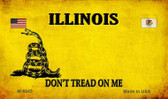 Illinois Do Not Tread Wholesale Aluminum Magnet M-8845