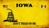 Iowa Do Not Tread Wholesale Aluminum Magnet M-8847