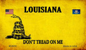 Louisiana Do Not Tread Wholesale Aluminum Magnet M-8850