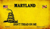 Maryland Do Not Tread Wholesale Aluminum Magnet M-8852