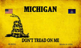 Michigan Do Not Tread Wholesale Aluminum Magnet M-8854
