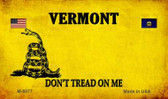 Vermont Do Not Tread Wholesale Aluminum Magnet M-8877