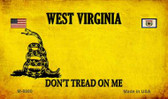 West Virginia Do Not Tread Wholesale Aluminum Magnet M-8880