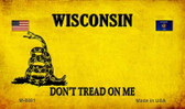 Wisconsin Do Not Tread Wholesale Aluminum Magnet M-8881