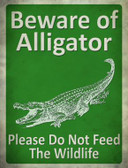 Beware of Alligators Don't Feed Wholesale Novelty Parking Sign P-1740