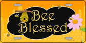 Bee Blessed Honey Hive Wholesale Novelty License Plate LP-11722