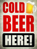 Cold Beer Here Wholesale Novelty Parking Sign P-1762