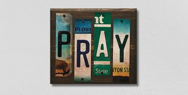 Pray License Plate Strips Wholesale Novelty Wood Sign WS-111