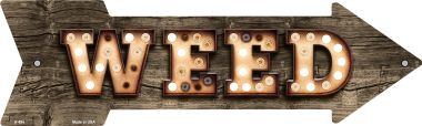 Weed Bulb Letters Wholesale Novelty Arrow Sign A-494
