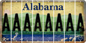 Alabama A Cut License Plate Strips (Set of 8) LPS-AL1-001