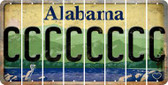 Alabama C Cut License Plate Strips (Set of 8) LPS-AL1-003