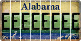 Alabama E Cut License Plate Strips (Set of 8) LPS-AL1-005
