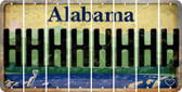 Alabama H Cut License Plate Strips (Set of 8) LPS-AL1-008