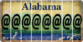 Alabama AMPERSAND @ Cut License Plate Strips (Set of 8) LPS-AL1-039