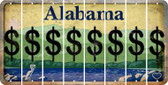 Alabama DOLLAR SIGN Cut License Plate Strips (Set of 8) LPS-AL1-040