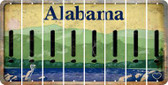 Alabama EXCLAMATION POINT Cut License Plate Strips (Set of 8) LPS-AL1-041