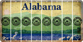 Alabama 2ND AMENDMENT Cut License Plate Strips (Set of 8) LPS-AL1-056