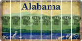 Alabama BASKETBALL HOOP Cut License Plate Strips (Set of 8) LPS-AL1-058