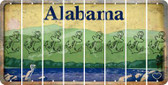 Alabama ANCHOR Cut License Plate Strips (Set of 8) LPS-AL1-093