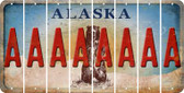 Alaska A Cut License Plate Strips (Set of 8) LPS-AK1-001