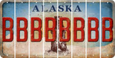 Alaska B Cut License Plate Strips (Set of 8) LPS-AK1-002