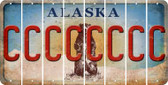 Alaska C Cut License Plate Strips (Set of 8) LPS-AK1-003