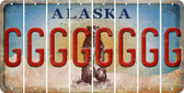 Alaska G Cut License Plate Strips (Set of 8) LPS-AK1-007